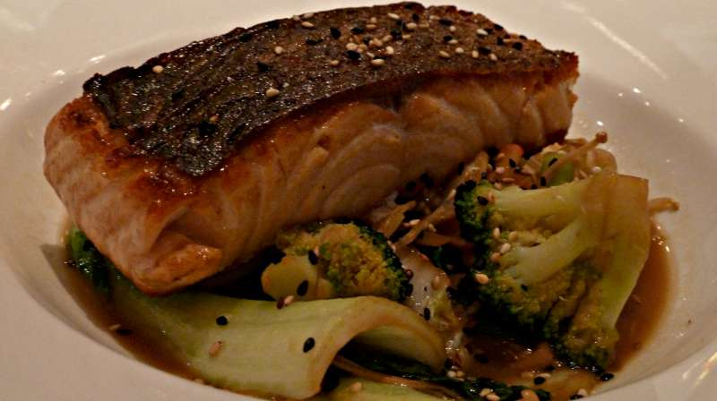 ASIAN SALMON AND VEGETABLES